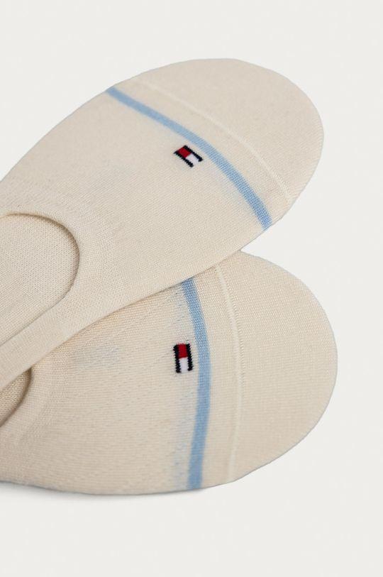 Tommy Hilfiger - Členkové ponožky (2-pak) krémová