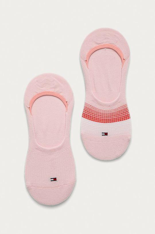 roz Tommy Hilfiger - Sosete scurte (2-pack) De femei