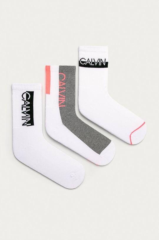 biały Calvin Klein - Skarpetki (3-pack) Damski