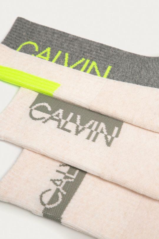 Calvin Klein - Ponožky (3-pak) piesková