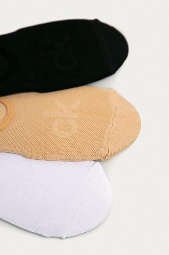 Calvin Klein - Ponožky (3-pak) béžová