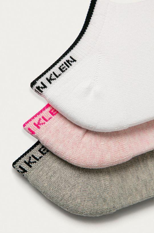 Calvin Klein - Ponožky (3-pack) starorůžová