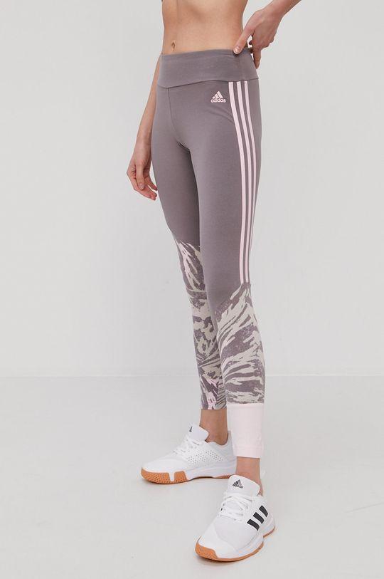 stalowy fiolet adidas - Legginsy Damski