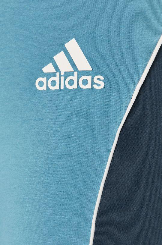 niebieski adidas Performance - Legginsy