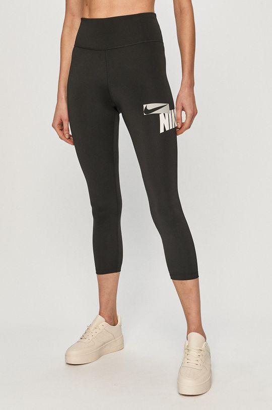 czarny Nike - Legginsy Damski