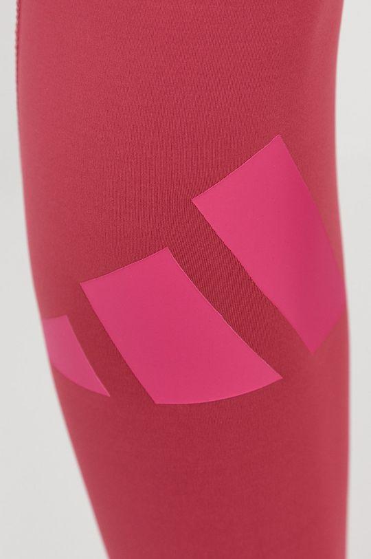 różowy adidas Performance - Legginsy