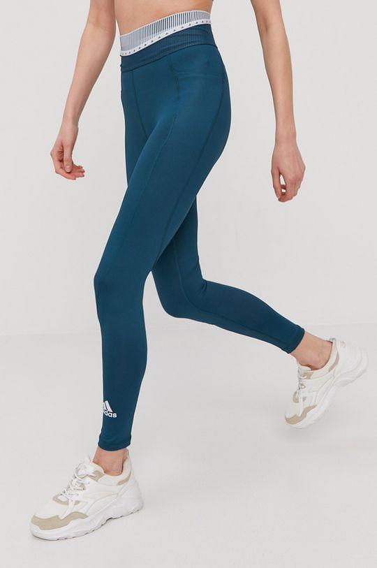 tyrkysová modrá adidas Performance - Legíny Dámsky