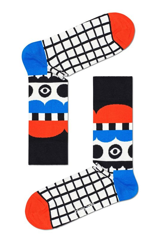 biela Happy Socks - Ponožky Abstract Tent Dámsky