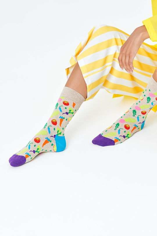 Happy Socks - Ponožky Veggie sivá