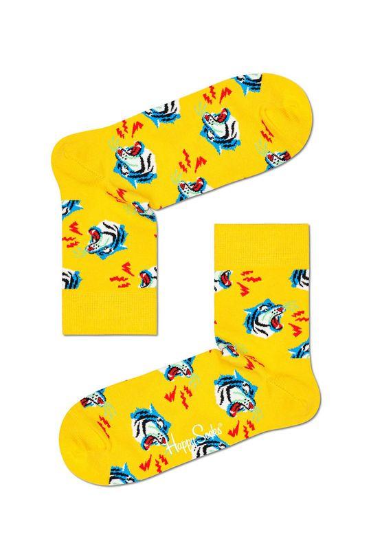 žlutá Happy Socks - Ponožky Tiger Half Crew Dámský