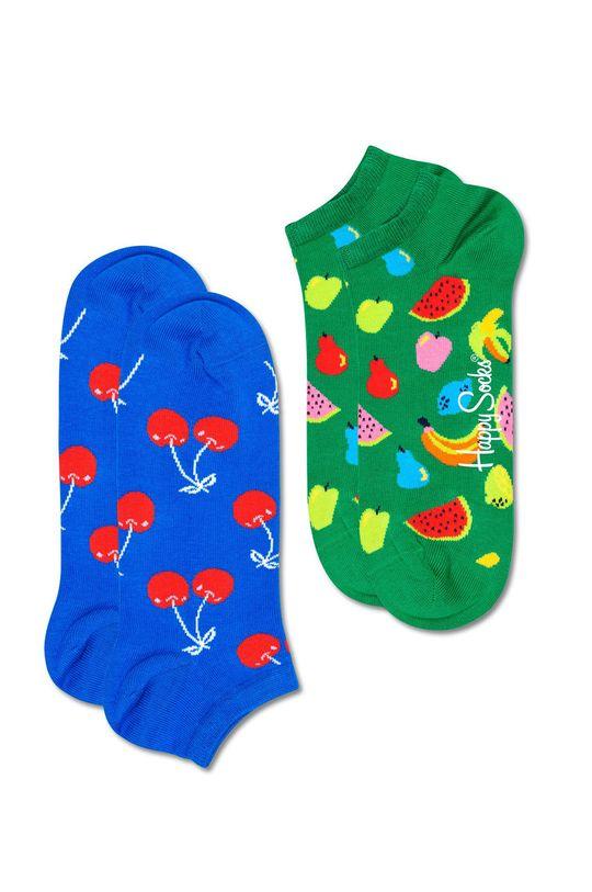 vícebarevná Happy Socks - Ponožky Fruit Low (2-PACK) Dámský