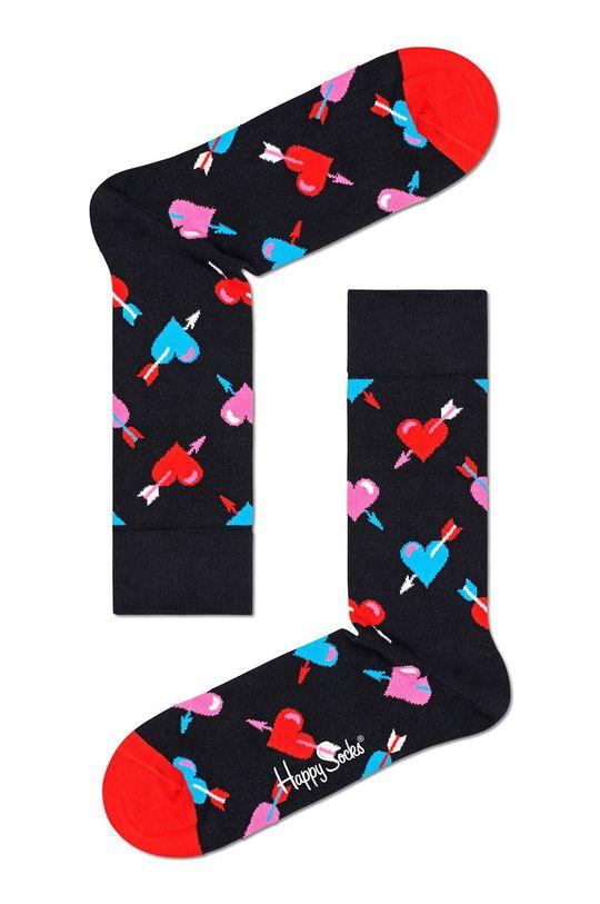 czarny Happy Socks - Skarpetki Heart Damski