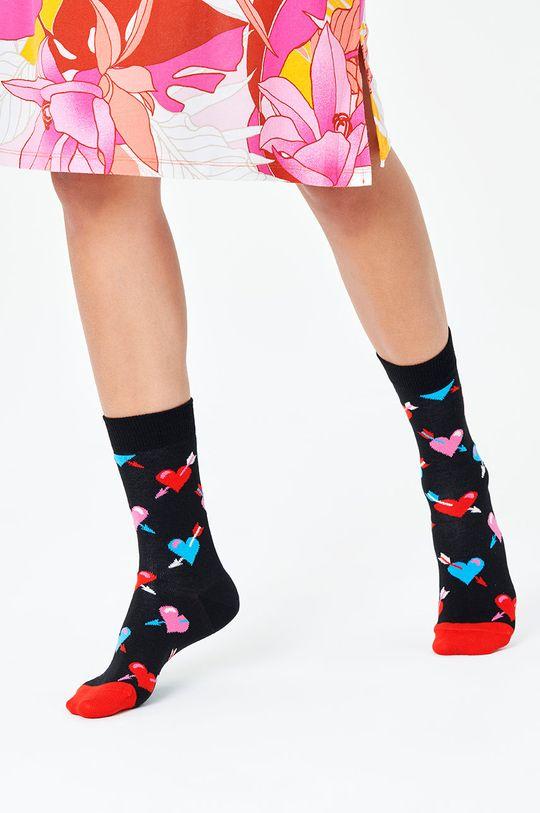 Happy Socks - Skarpetki Heart czarny
