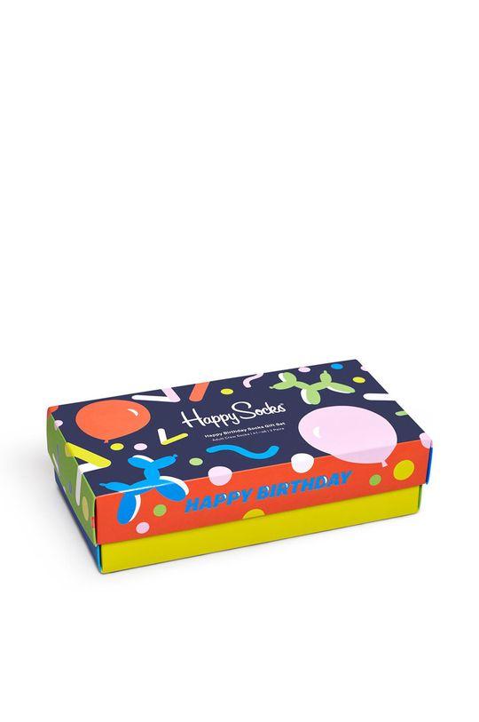 multicolor Happy Socks - Skarpetki Happy Birthday (3-pack) Damski