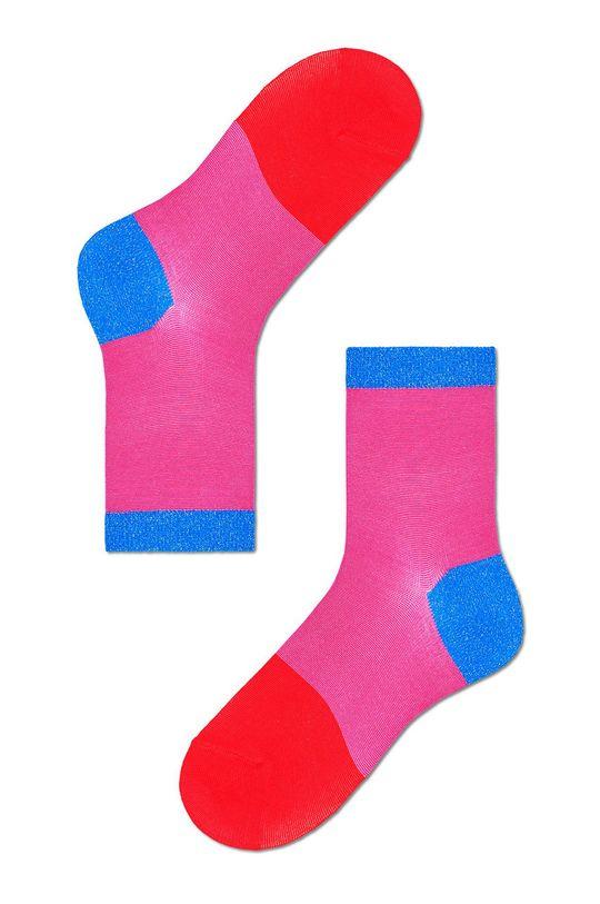 różowy Happy Socks - Skarpetki Liza Ankle Damski