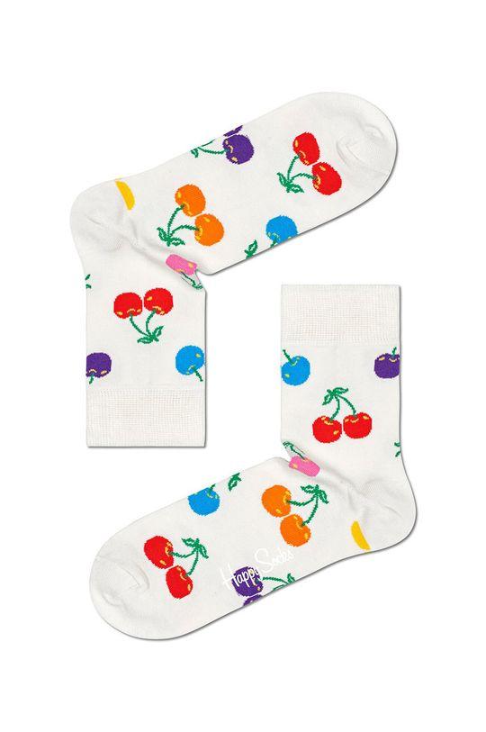 biały Happy Socks - Skarpetki Cherry Damski