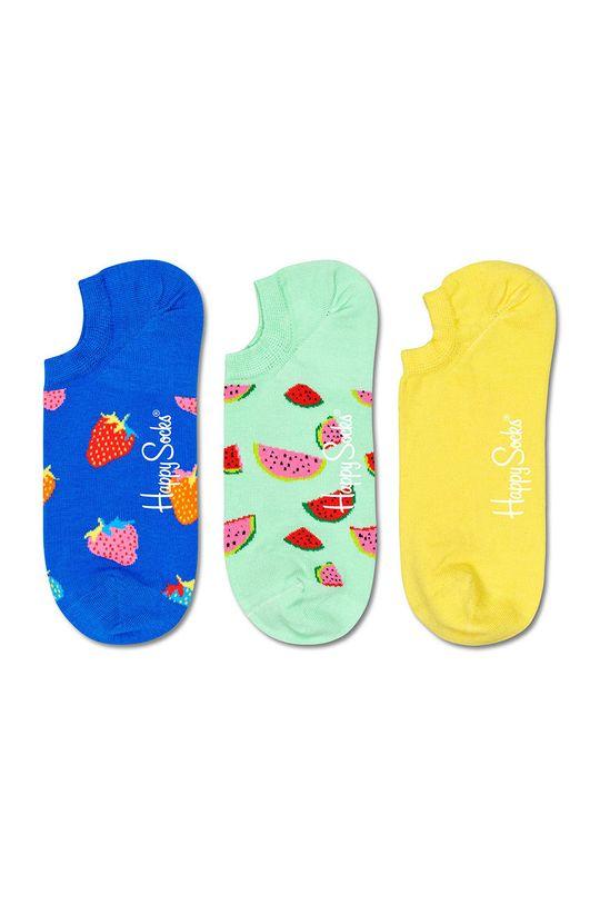 vícebarevná Happy Socks - Ponožky Fruit (3-pack) Dámský