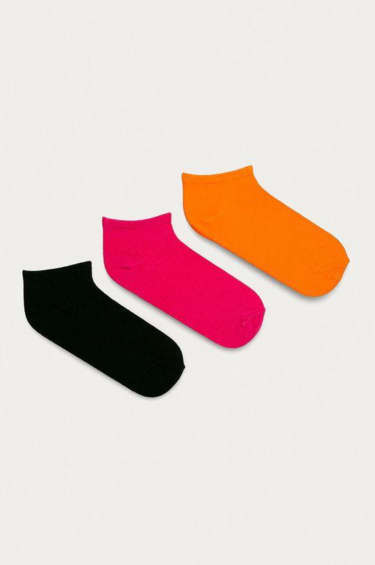 ostrá růžová Brave Soul - Ponožky (3-pack) Dámský