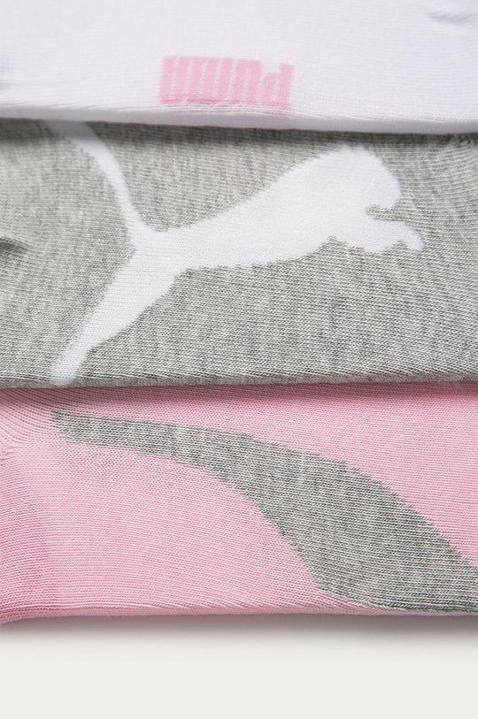 Puma - Ponožky (3-pack) světle šedá
