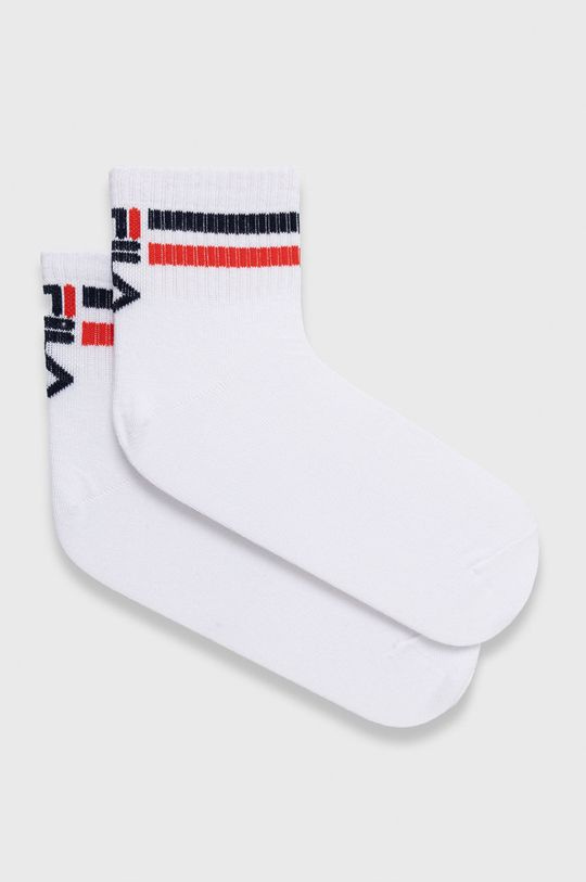 bílá Fila - Ponožky (3-pack) Dámský