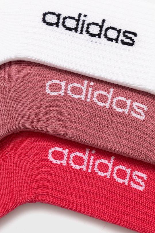 adidas - Ponožky (3-pak) bledofialový
