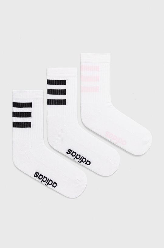 biela adidas - Ponožky (3-pak) Dámsky