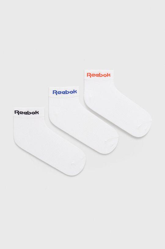 biela Reebok - Ponožky (3-pak) Dámsky