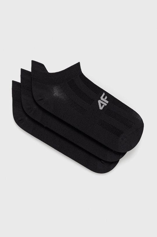 čierna 4F - Ponožky (3-pak) Dámsky