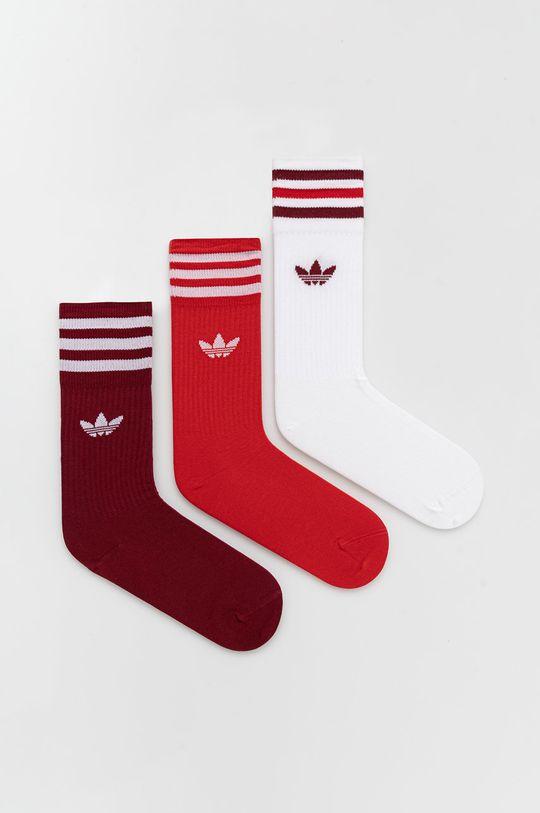 czerwony adidas Originals - Skarpetki (3-Pack) Damski