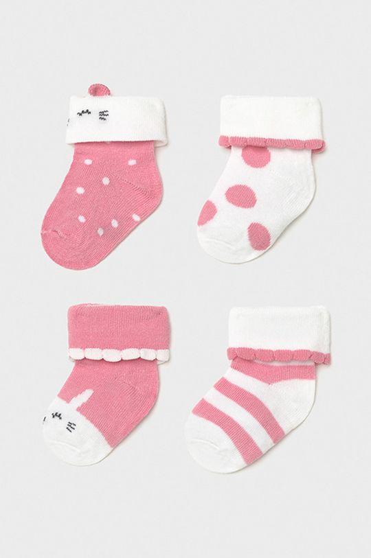 pastelowy różowy Mayoral Newborn - Skarpetki dziecięce (4-PACK) Dziewczęcy