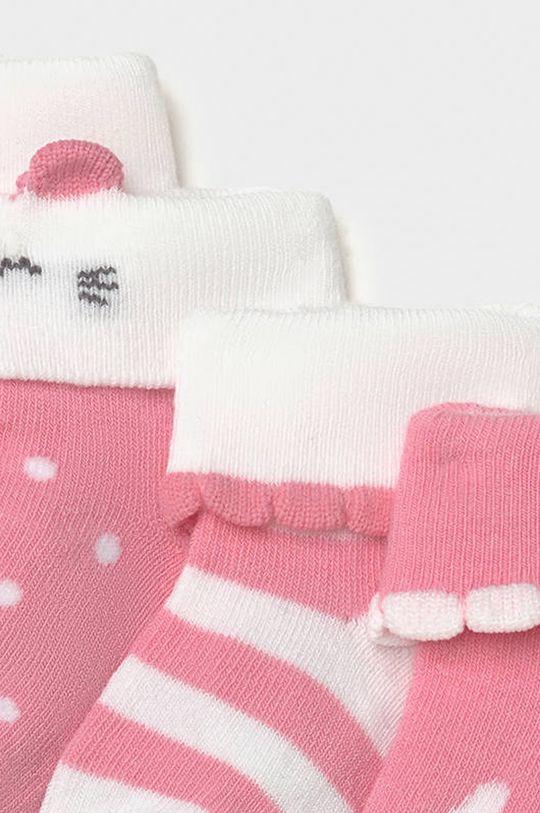 Mayoral Newborn - Skarpetki dziecięce (4-PACK) pastelowy różowy