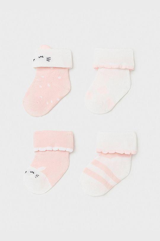 ružová Mayoral Newborn - Detské ponožky (4-pak) Dievčenský