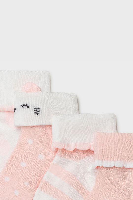 Mayoral Newborn - Detské ponožky (4-pak) ružová