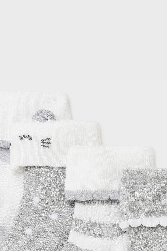 Mayoral Newborn - Detské ponožky (4-pak) sivá