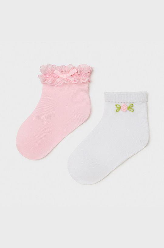 pastelowy różowy Mayoral - Skarpetki dziecięce (2-PACK) Dziewczęcy