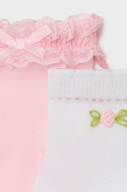 Mayoral - Skarpetki dziecięce (2-PACK) pastelowy różowy