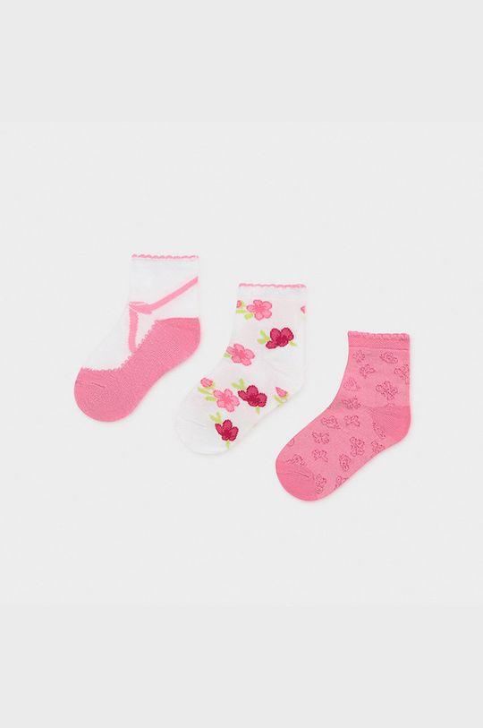 ružová Mayoral - Detské ponožky (3-pak) Dievčenský