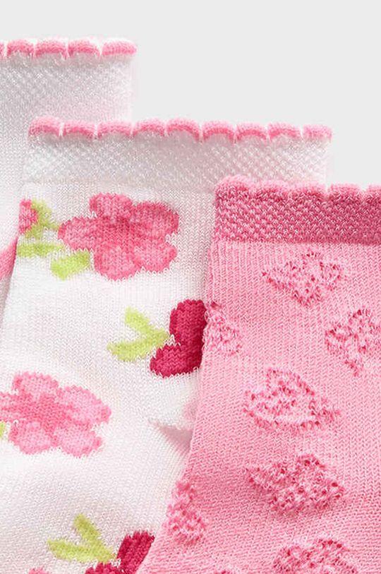 Mayoral - Detské ponožky (3-pak) ružová