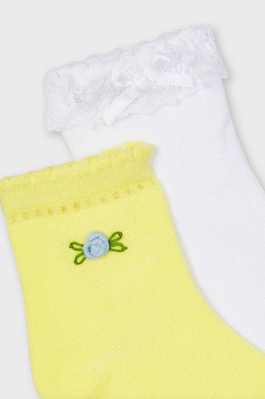 Mayoral - Detské ponožky (2-pak) žltá