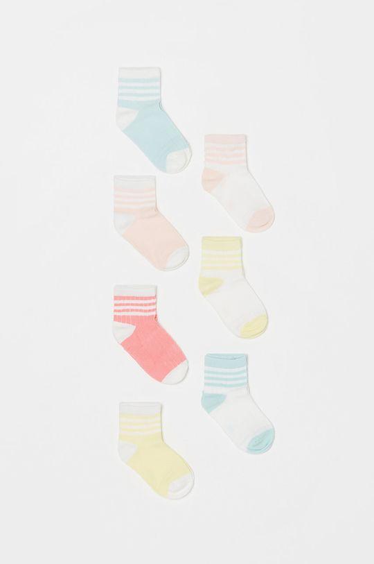 multicolor OVS - Skarpetki dziecięce (7-PACK) Dziewczęcy