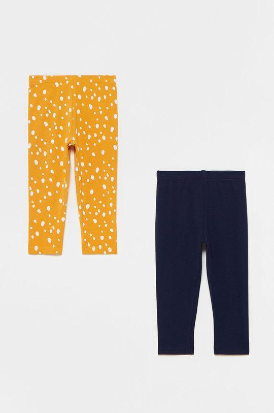 jasny pomarańczowy OVS - Legginsy dziecięce (2-PACK) Dziewczęcy