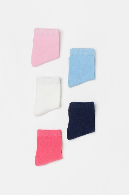 viacfarebná OVS - Detské ponožky (5-pak) Dievčenský