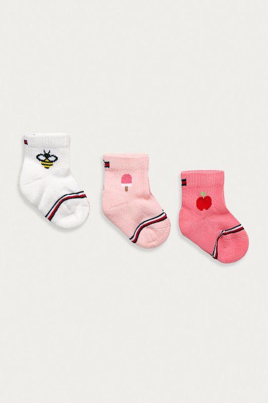 roz Tommy Hilfiger - Sosete bebe (3-pack) De fete