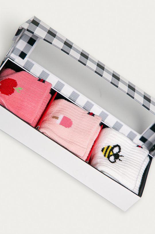 Tommy Hilfiger - Sosete bebe (3-pack) roz