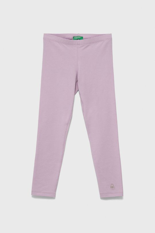 levandulová United Colors of Benetton - Dětské legíny Dívčí