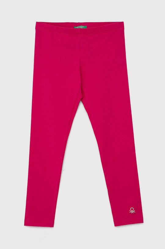 fuchsiová United Colors of Benetton - Dětské legíny Dívčí