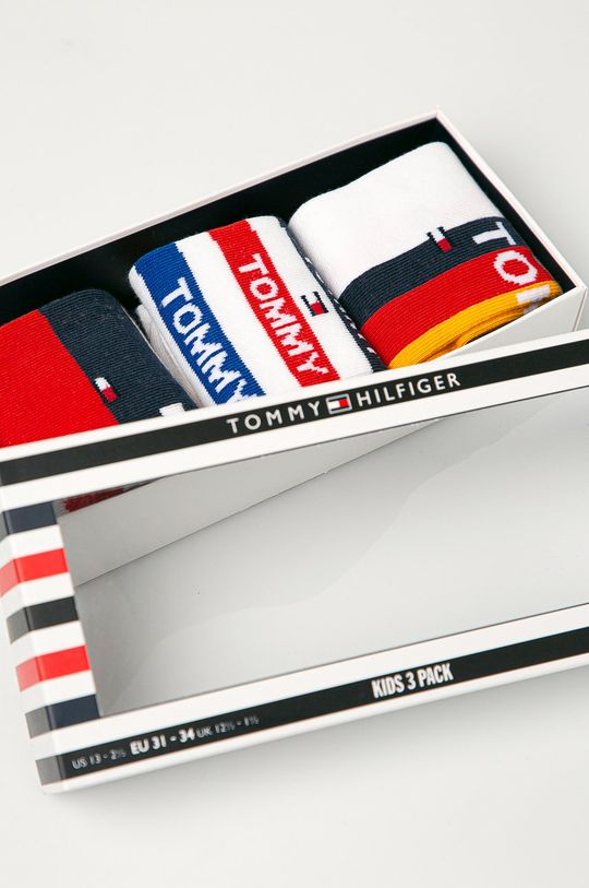 Tommy Hilfiger - Sosete copii (3-pack)  Material 1: 72% Bumbac, 5% Elastan, 23% Poliamida Material 2: 73% Bumbac, 1% Elastan, 26% Poliamida
