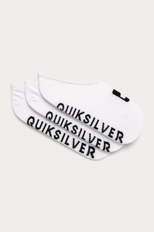 bílá Quiksilver - Kotníkové ponožky (3-pack) Pánský