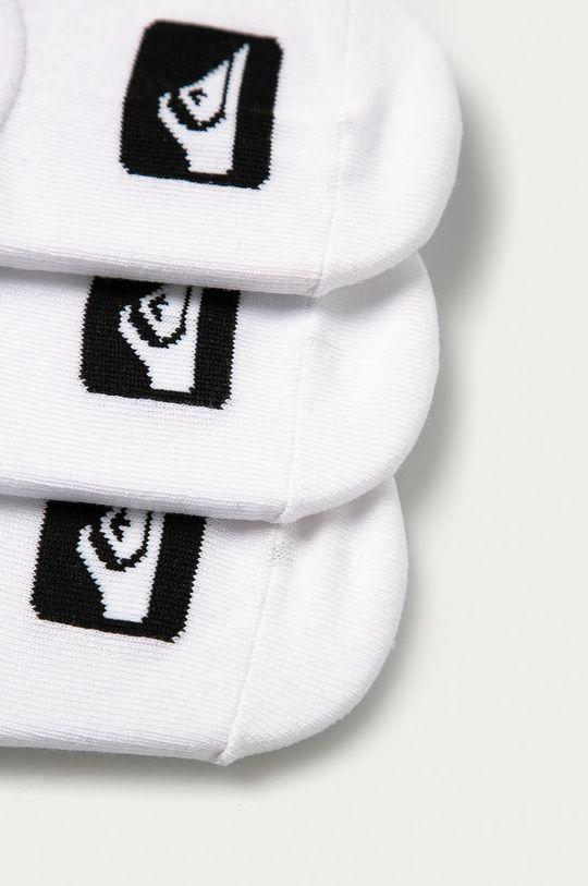 Quiksilver - Kotníkové ponožky (3-pack) bílá