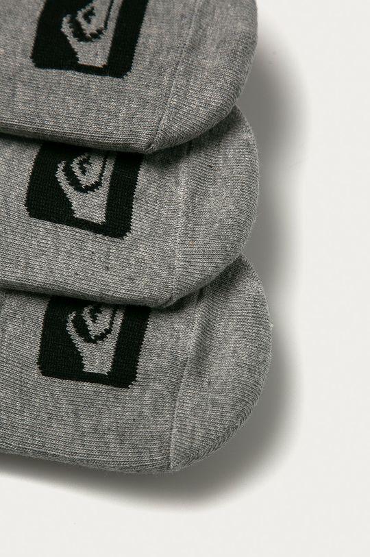 Quiksilver - Kotníkové ponožky (3-pack) šedá